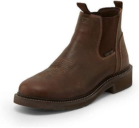 Justin Original Workboots Mens Childress Composite Toe Work Work Safety Shoes Casual - Brown - Size 13 D
