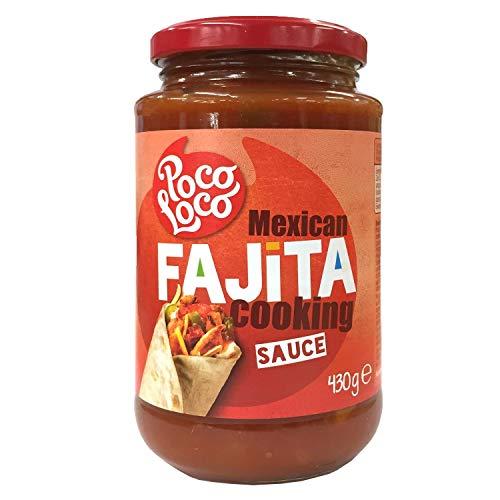 Poco Loco Mexican Fajita Cooking Sauce, 1er Pack (1 x 430 g)