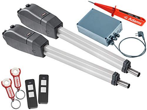 Sommer Twist 350 Drehtorantrieb 2-flüglig + 2 Stück Handsender Pearl Twin mit ADAMS Anhänger Set 3in1F + ADAMS Stromprüfer