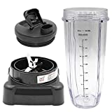 Anbige New Design Blade Replacement Parts for Ninja Blender Accessories Compatible with Ninja BL610 (1 ice-shaver blade + 1 32oz cup + 1 lid)