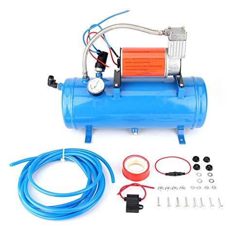 Qiilu Bomba de Aire, máquina de la Bomba de Aire del Cuerno del compresor de Aire del Coche para el Tren del vehículo recreativo del Carro del Coche