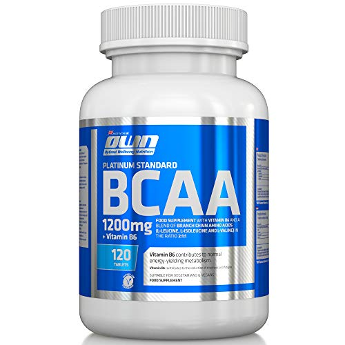 OWN - Platinum Standard BCAA 1200 and B6 for Increased Absorption, 120 Tablets