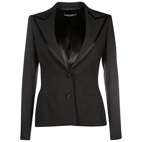 Dolce&Gabbana Damen Jacke Blazer Schwarz EU 42 (UK 10) F29S6TFUBAJN0000