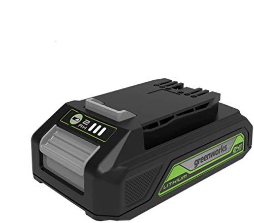 Greenworks Tools Batería G24B2 2ª generación - Batería potente y recargable de Li-Ion 24 V 2.0 Ah adecuada para todos los dispositivos y baterías de la serie de 24 V de Greenworks Tools