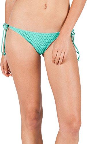 Volcom Juniors Love and Haight Full Bikini Bottom, Blue Bird, Medium