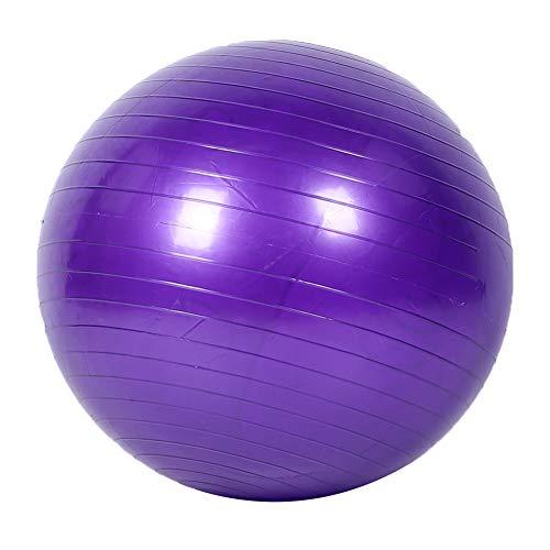 DAUERHAFT Pelota de Yoga, Pelota de Ejercicio de Engrosamiento, Entrenamiento de Entrenamiento Fitness Pelota de Yoga para moldear el Cuerpo, para Oficina(65cm + Air Pull + Air Plug)