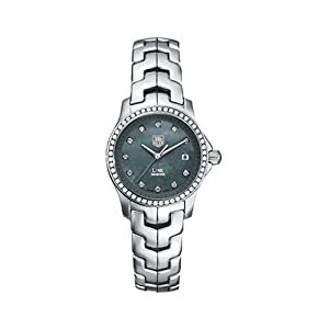 Tag Heuer Link Womens Blue Mother of Pearl Dial Stainless Steel Diamond Watch WJF131G.BA0572 image