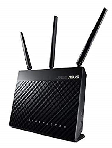 Asus AC1900 Dual Band Gigabit WiFi Router with MU-Mimo, Aimesh for Mesh WIFI System, Aiprotection Network Security Powered by Trend Micro, Adaptive...