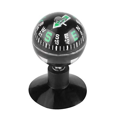 Kogel kompas draagbaar autokompas, auto boat truck mini zwart flexibele navigatie plastic schaal bal kompas dashboard zuigtas wandelrichting geleidingsbal