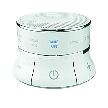 Brookstone Tranquil Moments Bedside Sleep Sound Machine & Bluetooth Speaker, White, 0.5 Pound