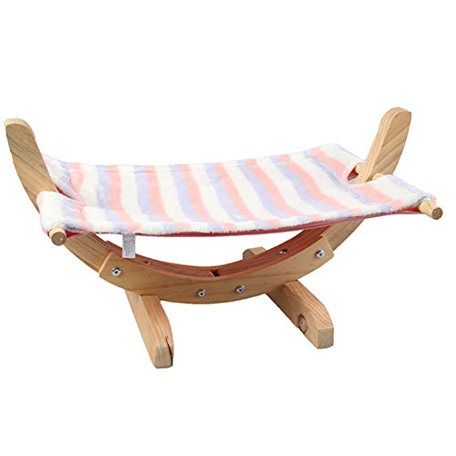 Guajave Cama hamaca para gatos transpirable de madera para dormir suave y cómodo suministros para mascotas
