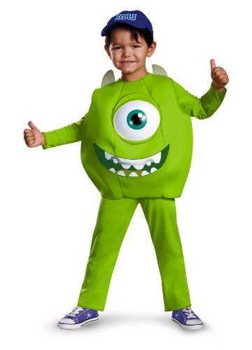 Disney Pixar Monsters University Mike Toddler Deluxe Costume, Small/2T