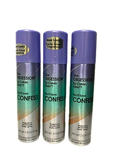 Parfums De Coeur Confess Fragrance Deodorant Body Spray 2.5 Oz / 75 Ml For Women (Pack of 3)