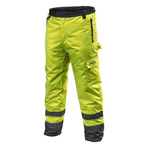 NEO TOOLS Profi Thermo Warnschutzhose Warnhose orange gelb Arbeitshose Warnschutz Sicherheitshose M neongelb