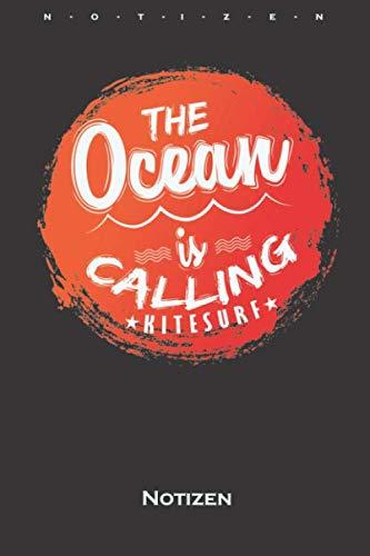Ocean Is Calling Notizbuch: Kariertes Notizbuch für Fans des Wassersports