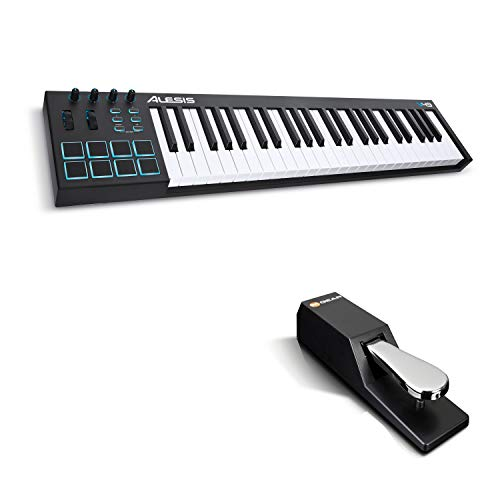 Alesis V49 + M-Audio SP-2 - Tastiera Controller MIDI USB a 49 note con Suite Software + Pedale di Sustain Universale in Stile Pianoforte