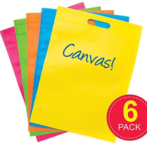 Baker Ross blanco draagtassen van canvas - Ontwerp je eigen draagtas (6-pack) creatieve knutselsets voor kinderen.