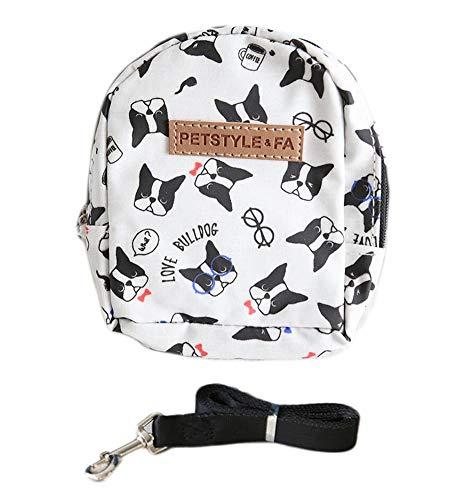 Oyccen Ajustable Mochila de Arnés de Mascotas Bolsa para Viajar Caminar Al Aire Libre Arnés de Chaleco con Correa para Pequeños Perros Gatos
