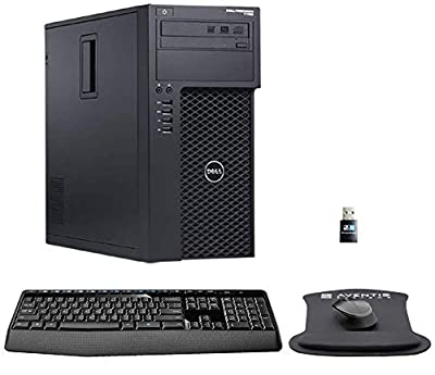 Dell Precision T1700 Workstation i7, 16GB RAM, 480GB SSD, 3TB HDD, AMD Radeon R7, Windows 10, WiFi, Wireless Keyboard and Mouse (Renewed)