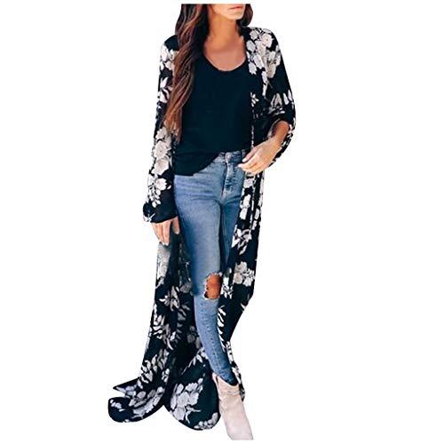 TEFIIR Strickjacke Damen Cardigan Strickmantel Strickcardigan,Frauen Mode Casual V-Ausschnitt Langarm Karierte Strickjacke Pullover Jacke Outwear Mantel