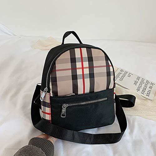 Rucksack Tasche Weibliche Koreanische Mode Lässig Gitter Anti-Diebstahl-Rucksack Outdoor-Reisen Einkaufen Kleinen Rucksack 21X25X11Cm