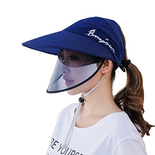 StyleBest Sonnenhut-Schutzkappe mit breiter Kante und Abnehmbarer Sommerschutzkappe für den Gesichtsschutz