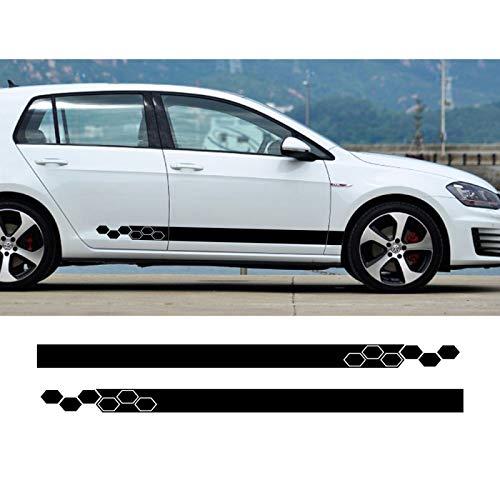 vitesurz Auto Grafiken Seitenstreifen Seitenaufkleber Aufkleber, Für VW Golf 4 5 6 7 MK3 MK4 MK5 MK6 Polo, Autoaufkleber Rock Vinyl Autozubehör