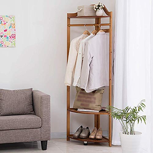 FF Eenvoudige massief hout kapstok hanger slaapkamer kapstok - Kwaliteit losse hout hoek kapstok Bespaar ruimte