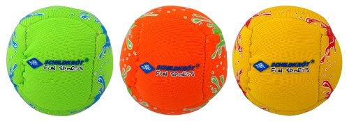 Schildkröt Neopren Mini-Fun-Bälle, 3 Mini Bälle zum Kicken, Werfen, Fangen, Jonglieren, Ø 5 cm, doppelwandig, gefüllt mit Kunststoff-Granulat, 970181