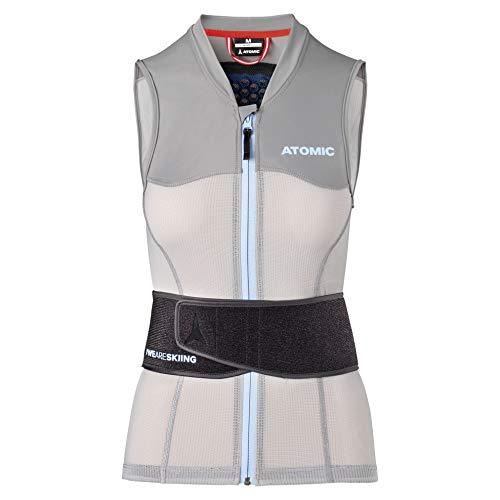 Atomic Damen Ski-Protektor-Weste Live Shield Vest AMID W, mit AMID-Body, Größe XS, grau, AN5205014XS