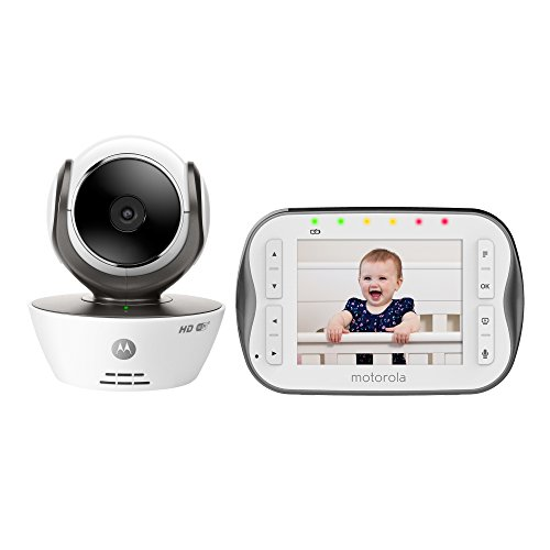 Motorola MBP843CONNECT Digital Video Baby Monitor with 3.5-Inch Screen and Wi-Fi Internet Viewing Monitors