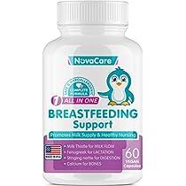 Breastfeeding Supplement for Lactation Support - Supplement for Increased Breast Milk - Fenugreek Seed, Nettle & Milk Thistle - 60 Vegan Capsules