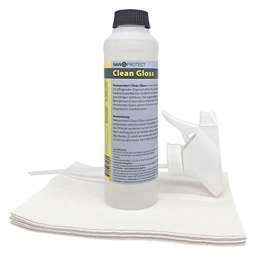 Nanoprotect Clean Gloss   Edelstahlreiniger und Edelstahlpflege   - 8