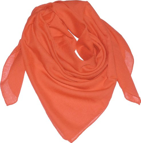 Harrys-Collection Damen Herren Baumwolltuch in vielen Farben 100 x 100 cm, Größen:Einheitsgröße, Farben:orange
