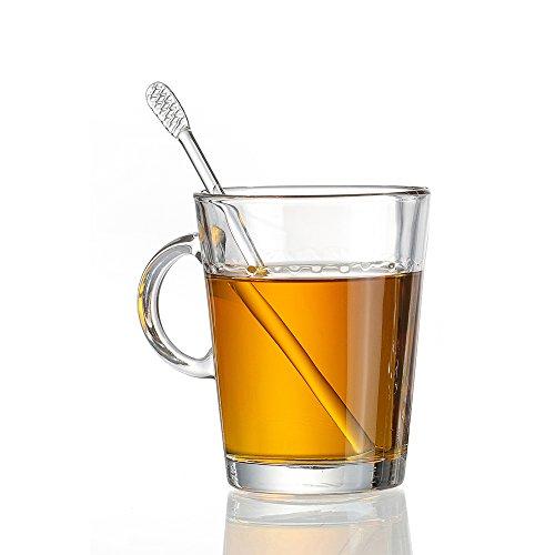 Ritzenhoff & Breker Arco Henkelbecher, Kaffeebecher, Tee Tasse, Kaffeetasse, Glas, 380 ml, 670981