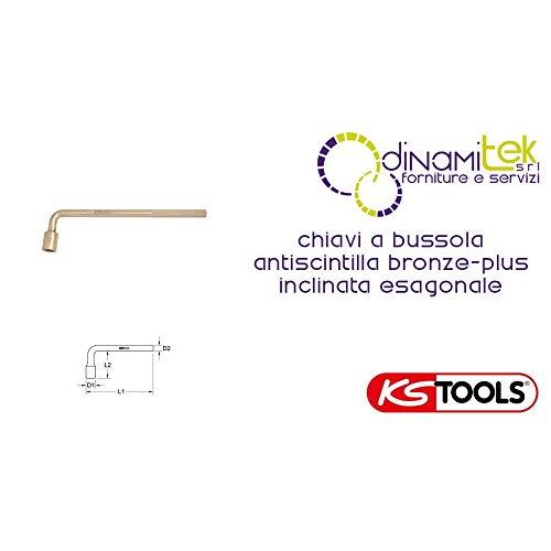 KS Tools 963.8386 BRONZEplus 6-kant-Steckschlüssel gewinkelt 67 mm