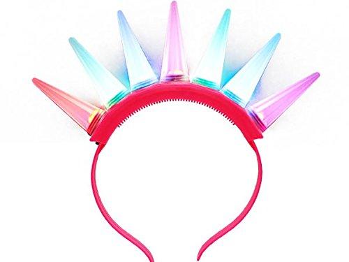 'Serre-tête lumineux LED lumineuse clignotante, magique pour vos soirées anniversaires noel jour de l''an fête concert accessoire animation fantastique enfant adulte ambiance, choisir la couleur:LH-DO cheveux jonc rose vif'