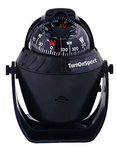 Boat Compass Dash Mount Flush - Boating Compass Dashboard Suction - Navigation Marine Compass Boats Surface Mount - Illuminated Dashboard Compass Ship - Best Gifts For Boaters