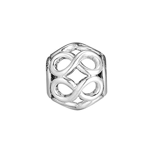 Diy Genuine 925 Sterling Silver Infinite Shine Charm Beads For Jewelry Making Fits Pandora Bracelets Gift
