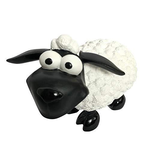 OF Gartenfiguren für außen - Dekofigur Schaf Molly stehend - Wetterfest (Weiß)
