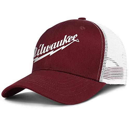 Young Women Men Baseball Cap Cute Messy Mil_wauk-Tool-sawzall-Blades- Adjustable Truck Cap Sun Hat