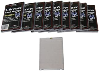10 BCW Brand 1-Screw Down Trading Card Holder / Box - 20 Pt. Thick -BCW-1S- Protect Your Valuable Sports and Gaming Cards!