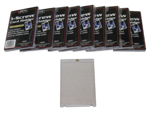 10 BCW Brand 1-Screw Down Trading Card Holder/Box - 20 Pt. Thick - BCW-1S- Protect Your Valuable Sports and Gaming Cards!