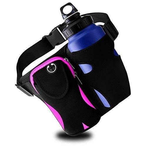 Superficie de carrera Ejecución de la correa ajustable paquete de la cintura con el titular de la botella impermeable del teléfono Escalada bolso al aire libre Senderismo Deportes de la bolsa de joggi