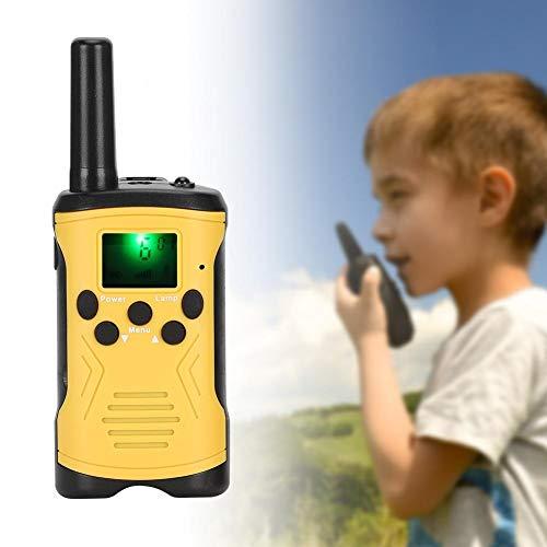 XiangXin ABS Walkie-Talkie 3 km / 9842 pies Intercomunicador a Distancia de comunicación, 8/20/22 Canales Walkie-Talkie para niños, para jardín al Aire Libre(Yellow)