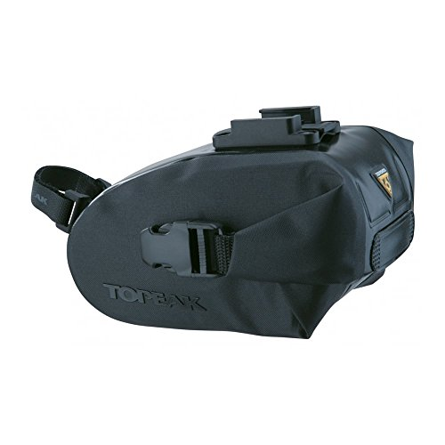 TOPEAK Wedge Sac étanche avec fixateur, 63009822, Noir, 9.1x4.3x5.1-inch