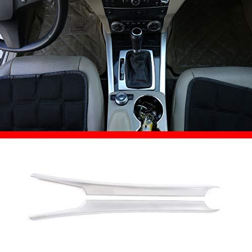 Yiwang car Center Console Dekoration Streifen Trim zubehör für Benz glk klasse x204 2008-2015 (Silber)