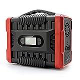 QCLU Generador de la Central eléctrica portátil 222WH / 60000mAH, batería de Respaldo de Litio con DC/AC/USB Puertos/Tipo -C/LED luz DIRIGIÓ Pantalla para al Aire Libre Picnic Pesca Drone Fies
