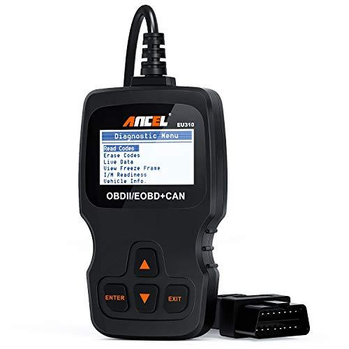 ANCEL EU310 OBD II Escáner Universal Clásica Multimarca Herramienta de Diagnóstico OBD2 Lector de Códigos de Error del Motor para Vehículos Diésel y Gasolina Manual en Español(Versión Electrónica)