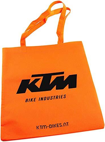 KTM Tragetasche, Stoffbeutel in orange mit schwarzem Logo